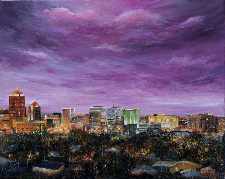 Albuquerque skyline - Artist Unknown