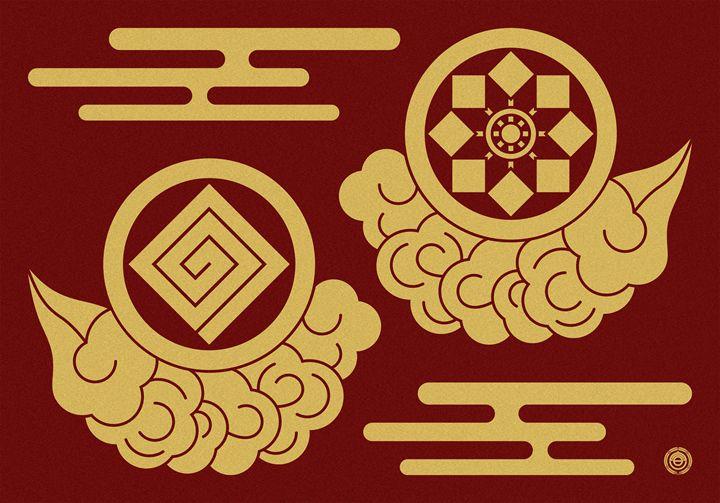 Wind and Thunder Gods : Color - NOBUTAKA