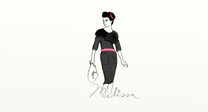50's Little Black Dress - Mackay Artwork & Design