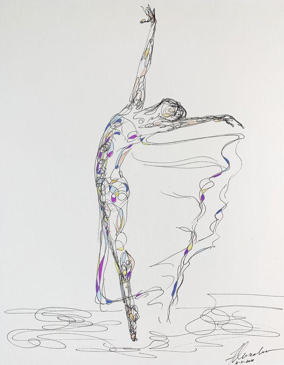Blue Dancer - Kendra Fleischman Fine Art