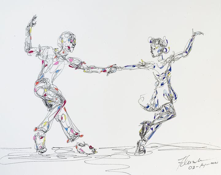 Dancing the Lindy - Kendra Fleischman Fine Art