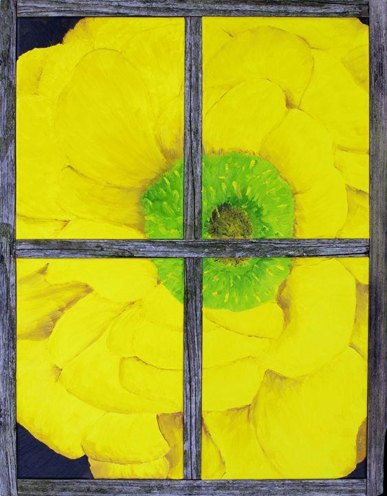Flower in Window - J Tuttle Art