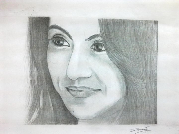Trisha Pencil Drawing - Pencil Drawings