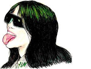 Drawing of Billie Eilish.