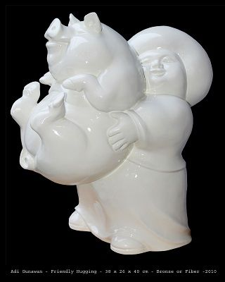 Adi Gunawan - Friendly Hugging - Andis Gallery