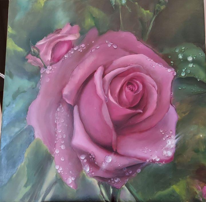 Rose with dew - Elena Virenova