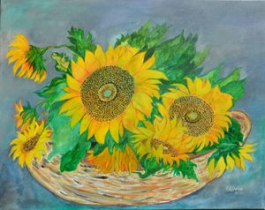 """Backyard Sunflowers"""