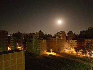 Supermoon shines, the life rises