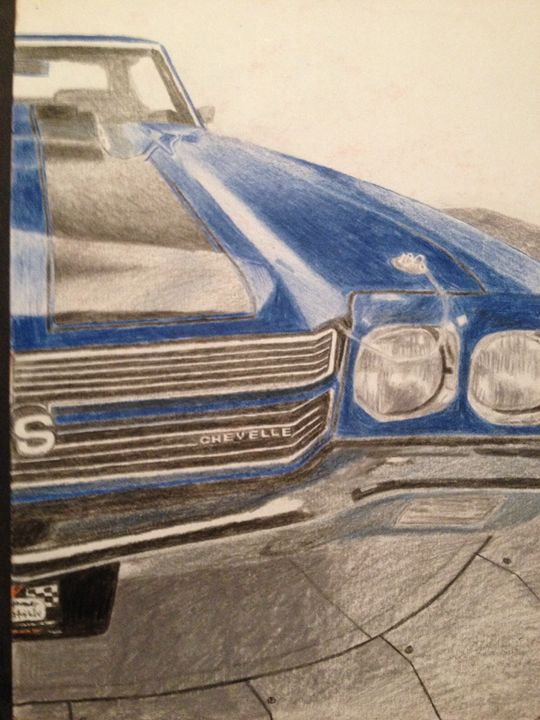 Blue muscle car - Chrisb