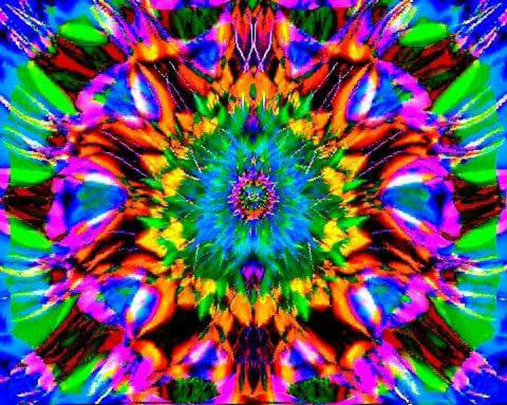 psychedelic flower of life - land of illusions