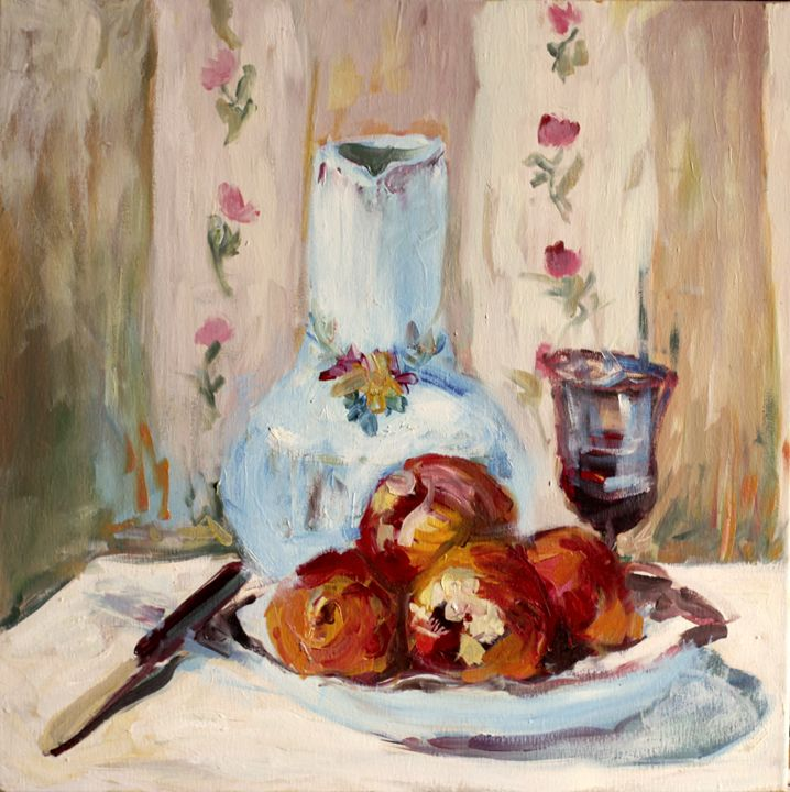 Still Life with Apples and Pitcher - artbeit