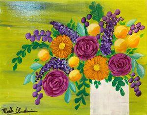 Flower Vase; Canvas