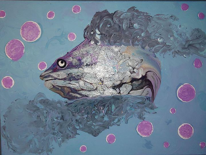 Acrylic Pour Fish - Selena Rose