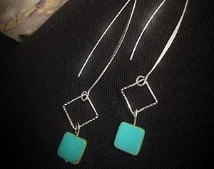 Elegant Turquoise & Silver Earrings