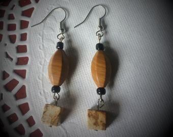 Picture Jasper Gemstome Earrings - Angela Brown