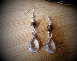 Teardrop Earrings with Tigers Eye