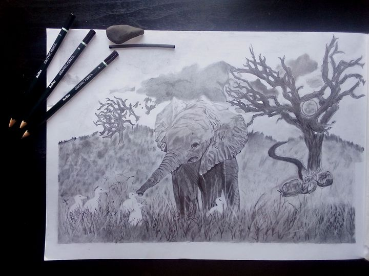 Tree trunk - Too Cxxl Art
