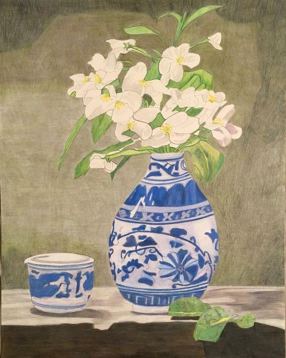 China and Apple Blossoms - Raymond Samuel