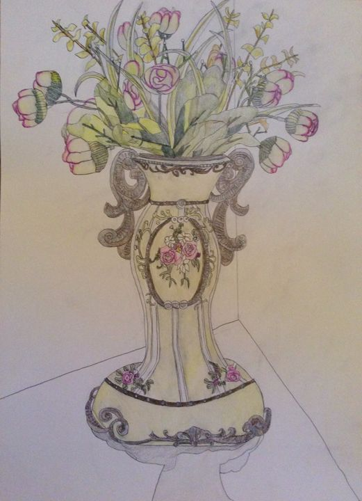 Vase and Flowers - Raymond Samuel