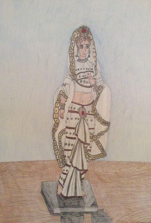Female Indian Statue - Raymond Samuel