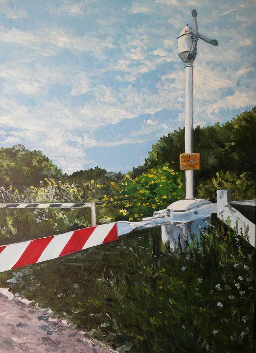"""""""Passaggio a livello"""" oil painting - Daniela Sersale"""