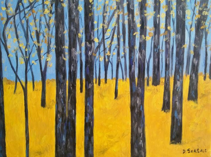 """""""Giallo indiano"""" oil painting - Daniela Sersale"""