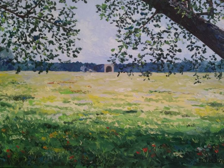 """La calma"" original oil painting - Daniela Sersale"