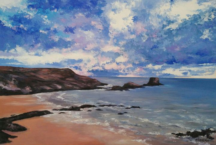 """Atlantico"" oil painting on canvas - Daniela Sersale"