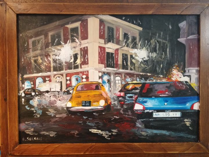"""Bari"" oil painting on canvas - Daniela Sersale"