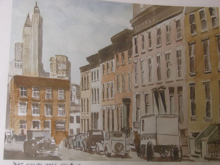 ny city street circa 1930 - martins art