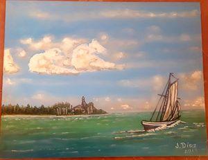 Sailing by Sanibel