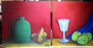 Set of 2 Jugs and Pears Apples and G