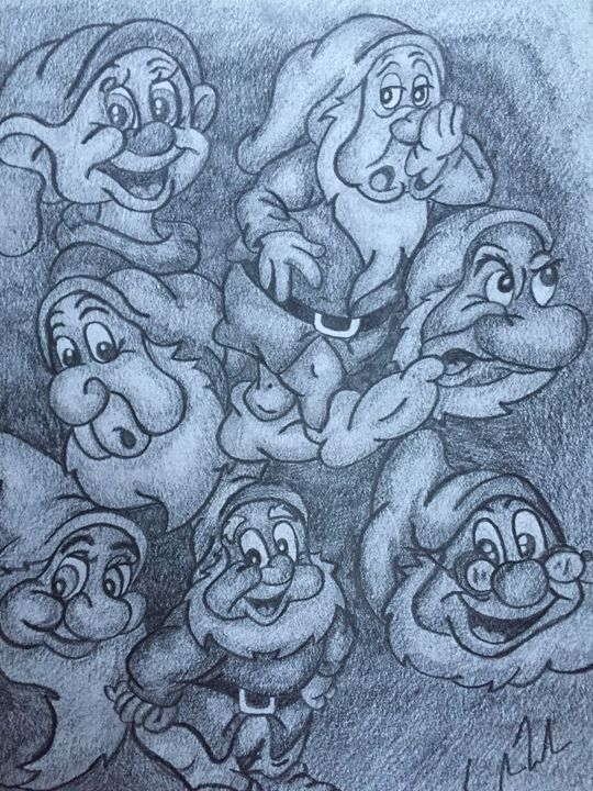 The seven dwarfs - Amber French