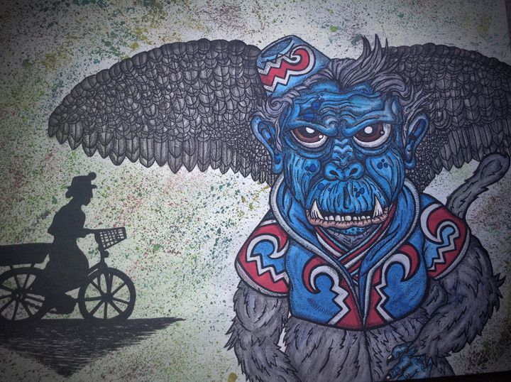 Evil monkey - Amber French