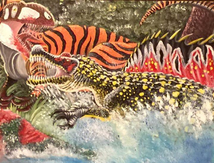 Rumble in the River - Stegosaurus1412