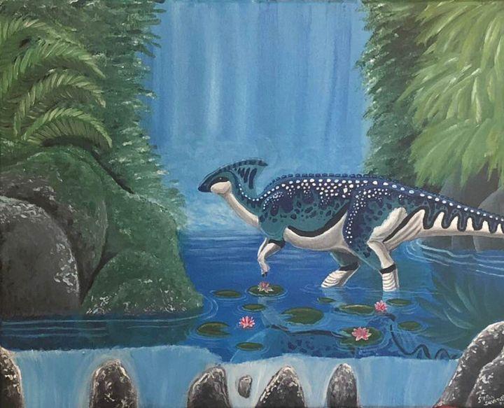 Parasaurolophus - Stegosaurus1412