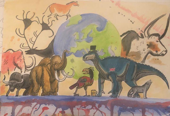 Happy New Year from Europe - Stegosaurus1412