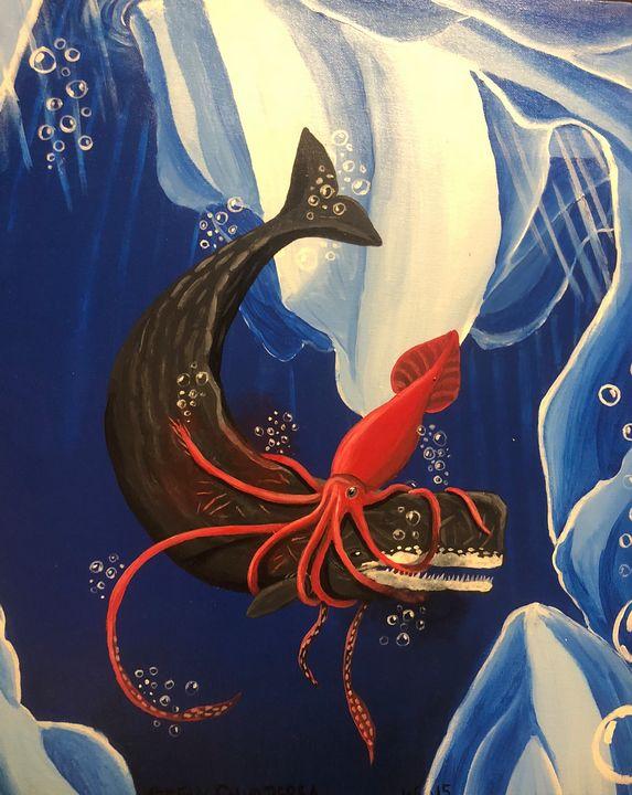 Deep Sea Battle - Stegosaurus1412