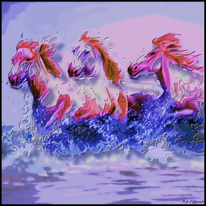 horses - digitalart Rob Elfferich