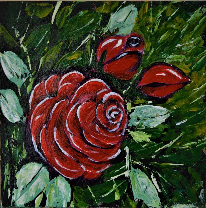 Red Rose - AlecA Art