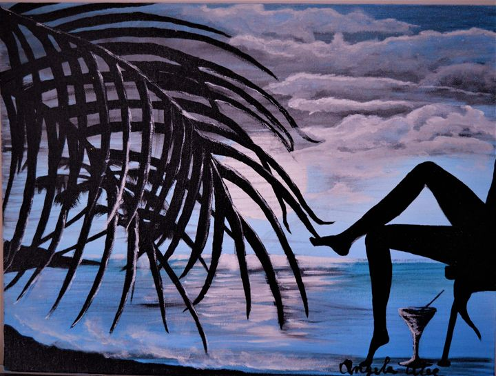 Night by the ocean - AlecA Art