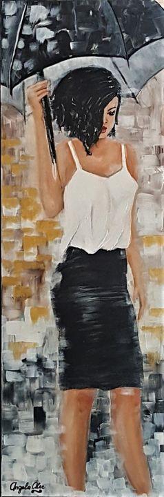 Girl With Umbrella - AlecA Art