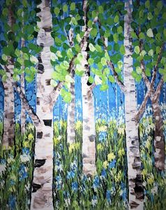 Birch Trees - AlecA Art
