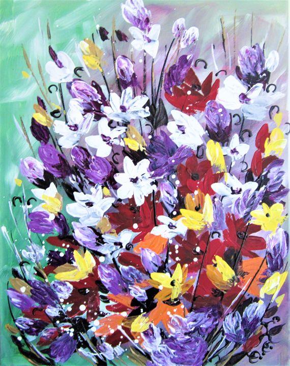 Absract Flowers - AlecA Art