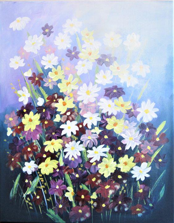 Absrtact Flowers - AlecA Art