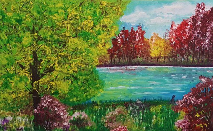 By the Lake - AlecA Art
