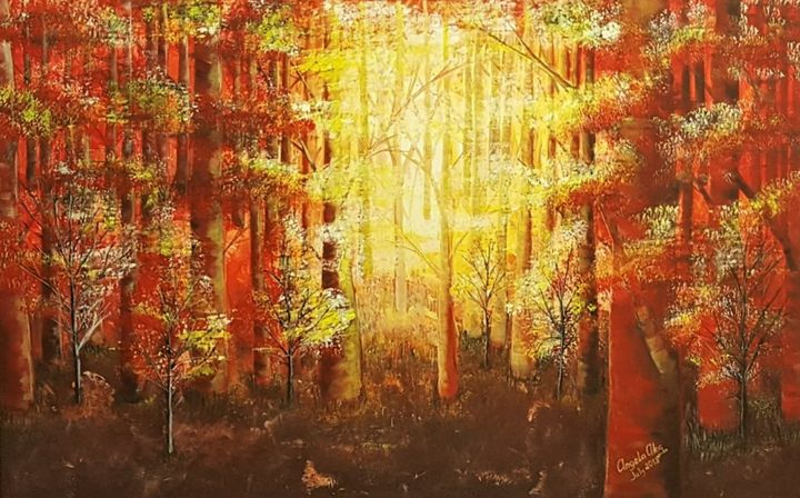 Sunrise in The Forest - AlecA Art