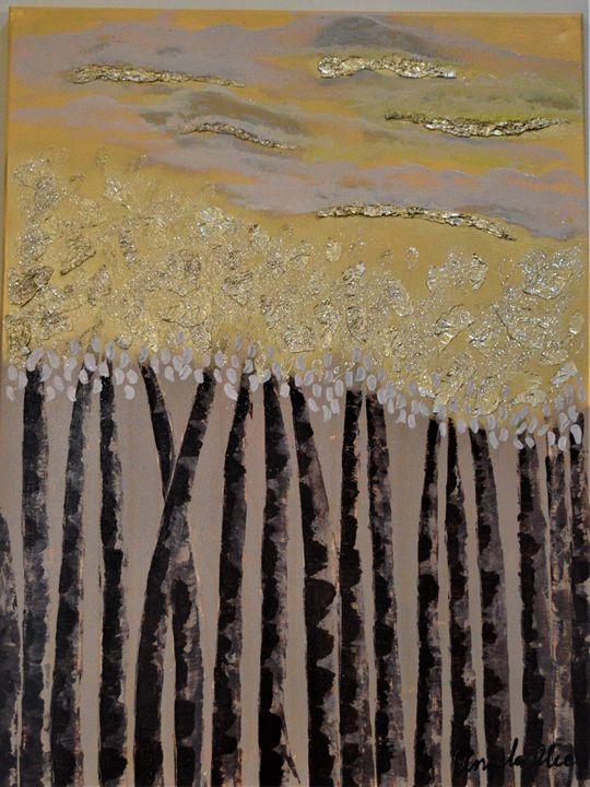 Golden Trees - AlecA Art