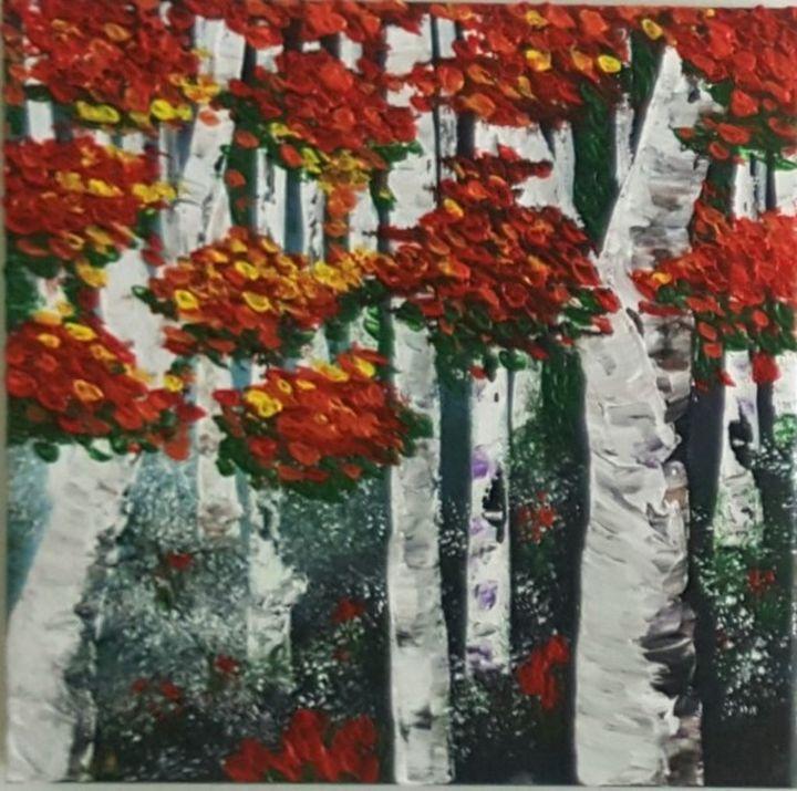 Fall Birch trees - AlecA Art