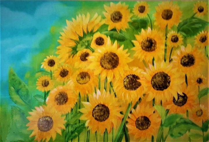 Sunflowers - AlecA Art